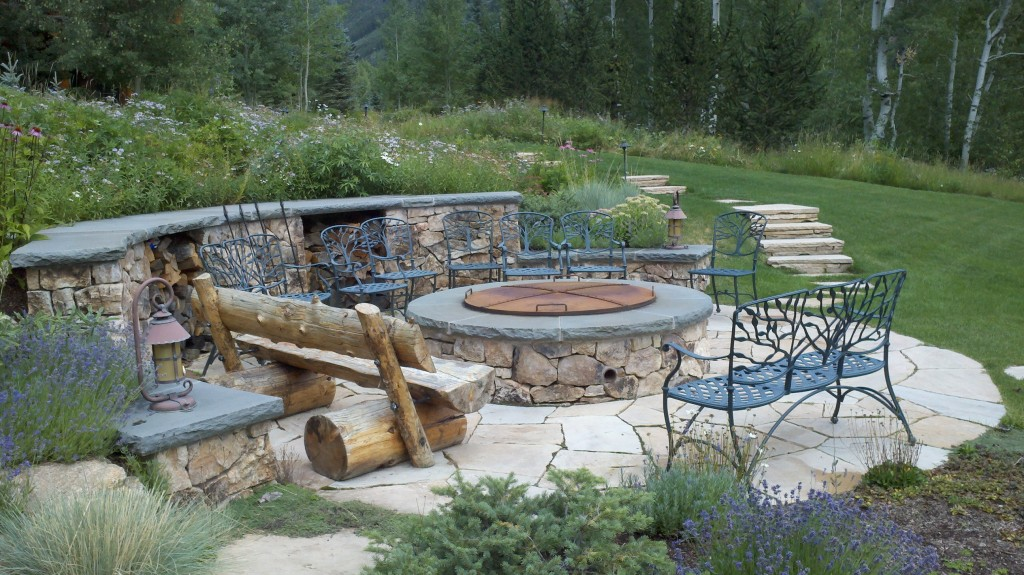 Rustic gathering space