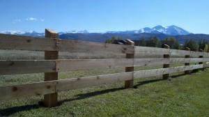 Cedar plank fencing