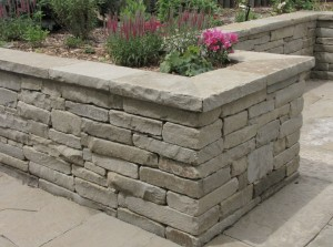 Crisp corners of a stone wall speak of fine craftsmanship.
