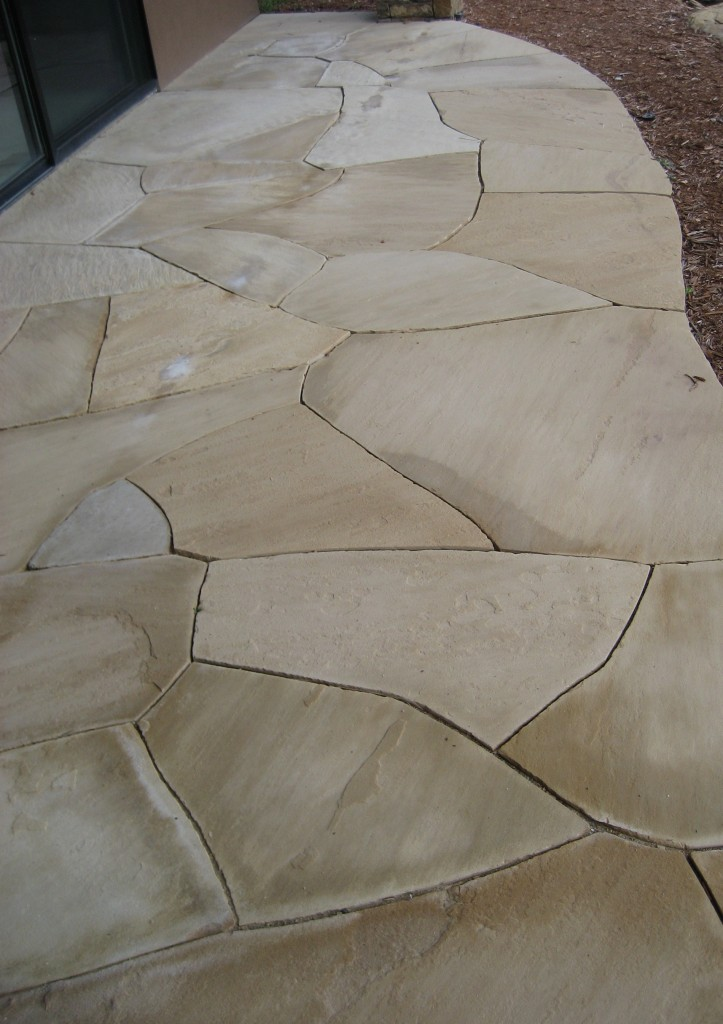 Natural tight joints provide mosaic elegance.