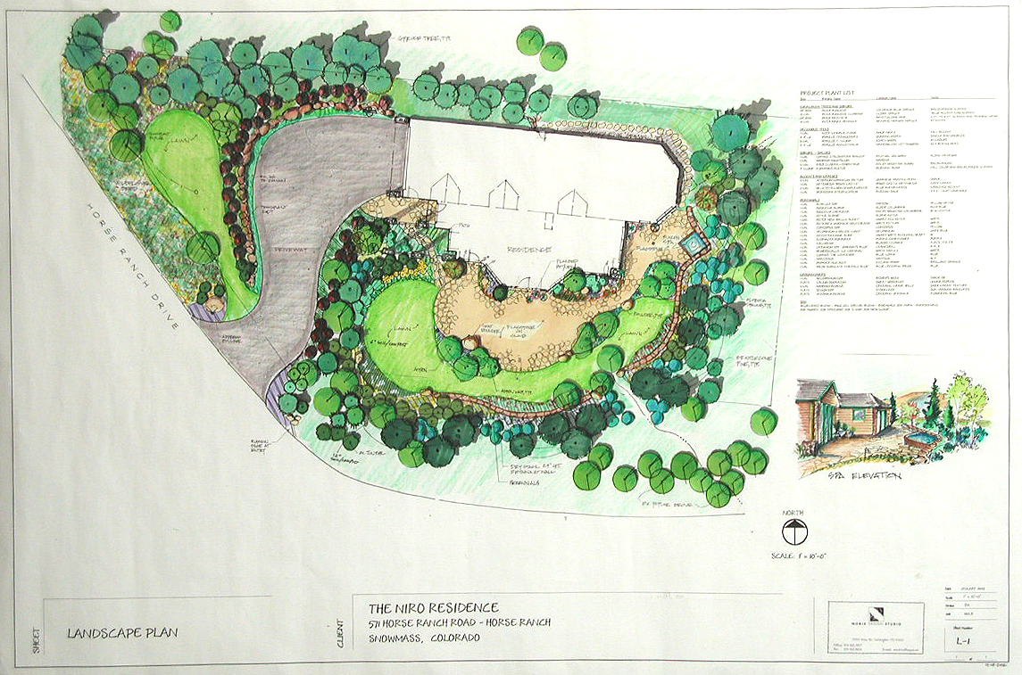 Plans and details insite landscape for Landscape garden design plans